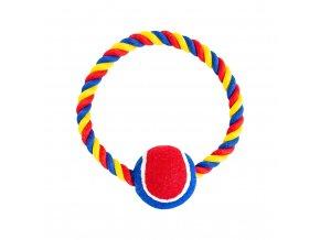 Hračka pro psy - Bavlněný kruh s rukojetí