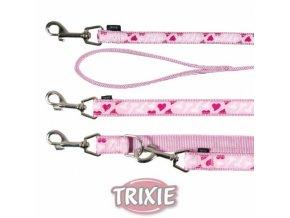 Dvouvrstvé nylonové vodítko pro psy prodlužovací - ROSE HEART