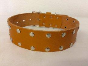 Kožený obojek pro psa - ručně šitý č.1