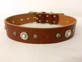 Kožený obojek pro psa - ručně šitý  č.5