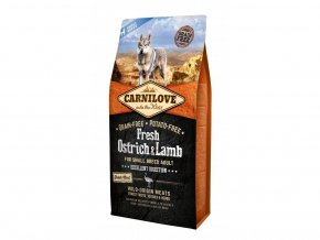 19734 carnilove dog fresh ostrich lamb for small breed 6kg