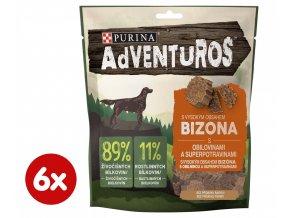Purina ADVENTUROS s bizonem a brusinkovou šťávou 6 x 90 g