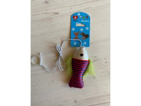Hračka pro kočky - rybka na gumičce