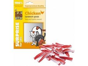 Huhubamboo Cat kuře spirálky 75 g