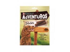 Purina Adventuros snack dog - tyčinky s bizoní přích. 120 g