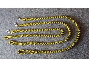 Vodítko pletené nylonové žluto -černé