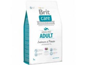 brit care grain free adult salmon potato 3kg