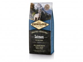 Carnilove Dog Salmon for Adult 12 kg  + Sušené Maso 75g