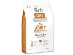 brit care adult medium breed lamb rice 3kg original