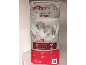 Fitmin Medium Senior 15 kg  + Sušené maso 250g