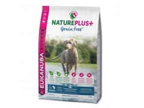 eukanuba nature plus puppy grain free salmon 14 kg