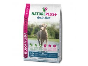 eukanuba nature plus puppy grain free salmon 14 kg