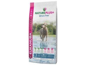 eukanuba nature plus puppy junior grain free salmon 14kg original