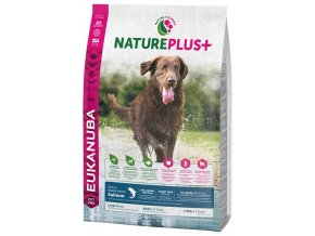 eukanuba nature plus adult large breed rich in freshly frozen salmon 2 3kg original