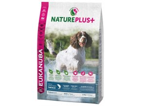 eukanuba nature plus adult medium breed rich in freshly frozen salmon 2 3kg original