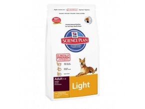 hills science plan canine adult light chicken 3kg