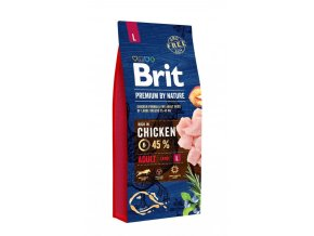 Brit Premium by Nature ADULT L 15 kg Akce