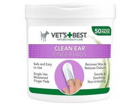 VET´S BEST Čisticí utěrka na uši pro psy, 50ks