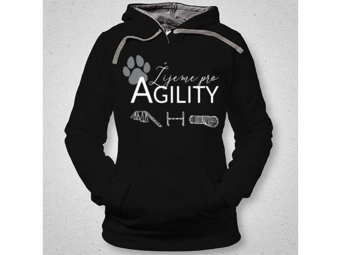 psi mikina zijeme pro agility cerna