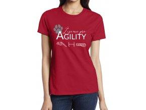 žijeme pro agility tricko červené