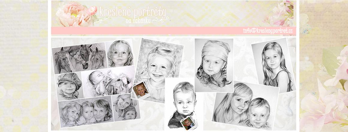 Kreslené portréty podle fotografie
