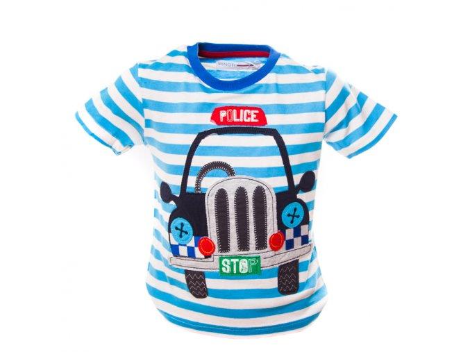 Tričko policie modré pruhy 0-3 roky