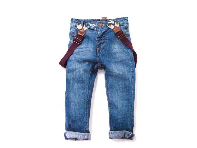 Chlapecké džíny s kšandami 1-4 roky