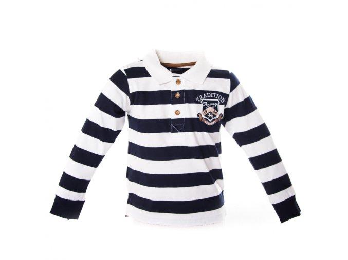 Tričko ragby bíločerné 1-4 roky