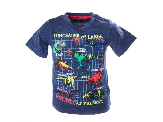 Tričko MINOTI brontosauři modré 1-4 roky