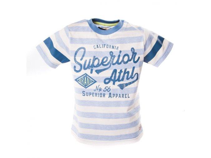 Tričko Super 3 modré pruhy světlé 3-8 let