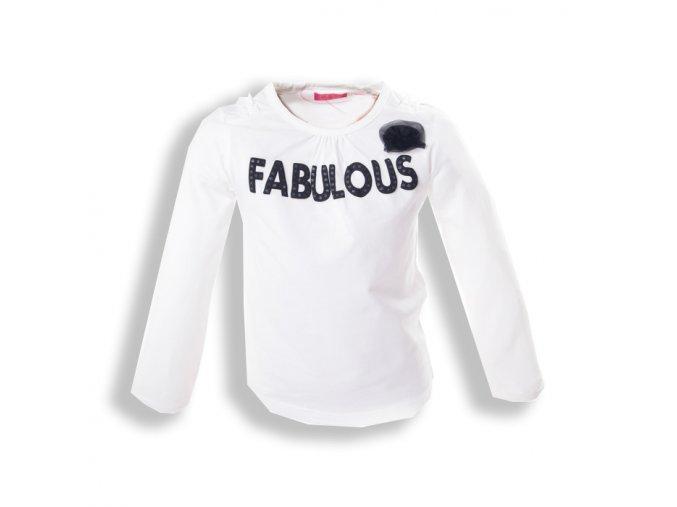 Tričko MINOTI bíle Fabulous 1-4 roky