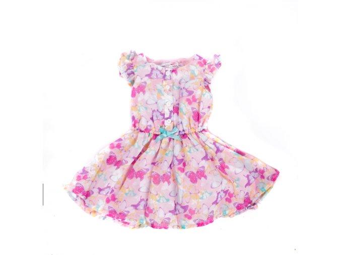 Dívčí šaty Minoti s motýlky 0-3 roky