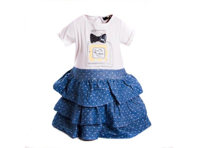 Dívčí šaty modré MINOTI 1-4 roky