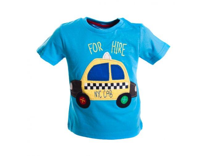 Modré tričko MINOTI taxi 0-3 roky