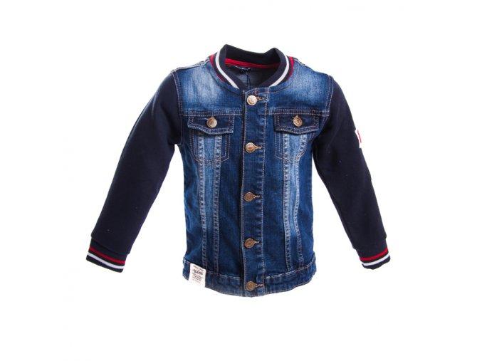 Chlapecká džínová bunda s fleesovými rukávy 1-4 roky