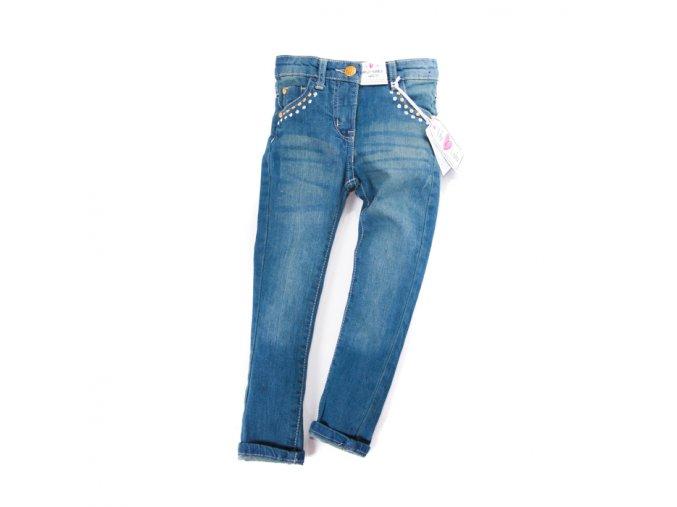 Dívčí džíny slim se cvočky kolem kapes 3-8 let