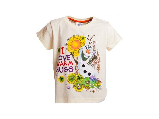 FROZEN tričko s Olafem žluté 1-8 let