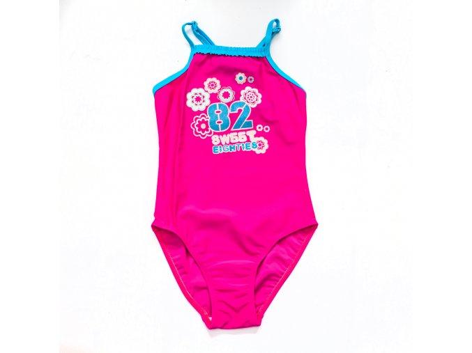 Plavky růžové Sweet eighties 2-9 let