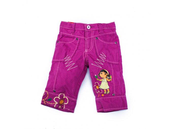 Dívčí tříčtvrteční kalhoty kraťasy Dora vínové 2-8 let