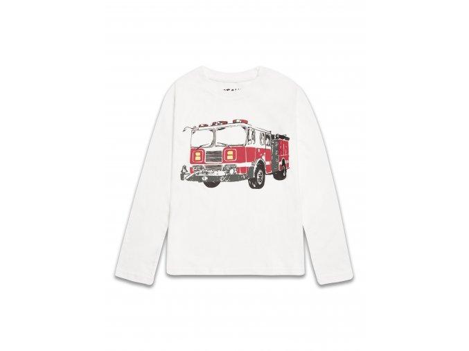 Dětské bílé tričko s požárním vozem 2-8 let