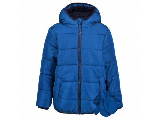 Dětská chlapecká, zimní bunda modrá, nepromokavá