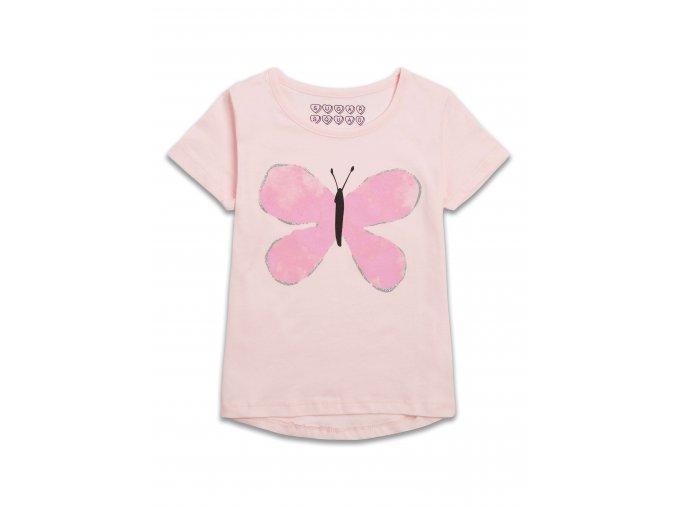 Růžové tričko s motýlkem