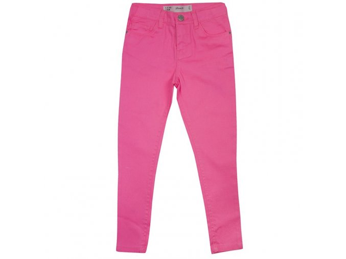 Džíny skinny růžové dívčí