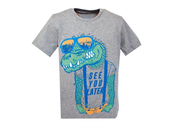 Tričko krokodýl šedé, chlapecké