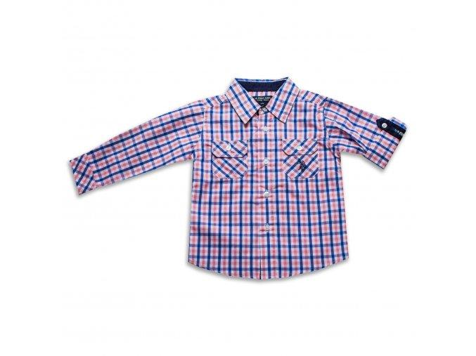 Košile Polo chlapecká, kostičky