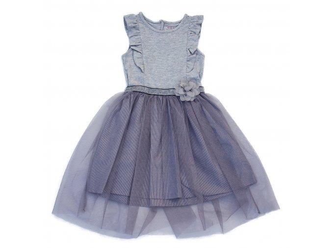 Dětské, dívčí společenské šaty šedé, stříbrné