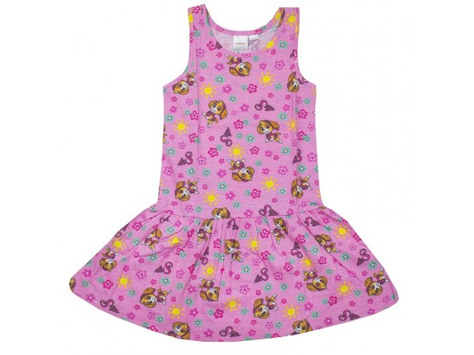 šaty se Skye Tlapková patrola Paw Patrol růžové