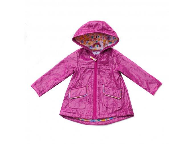 Dívčí kabátek nepromokavý vínový 0-6 let