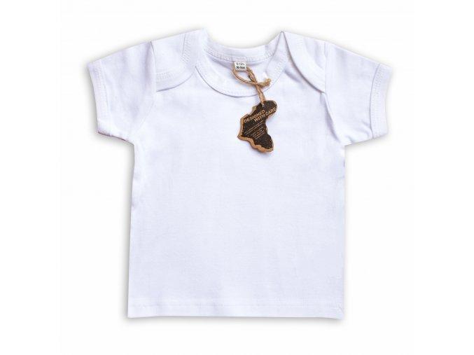 Kojenecké tričko bílé krátký rukáv