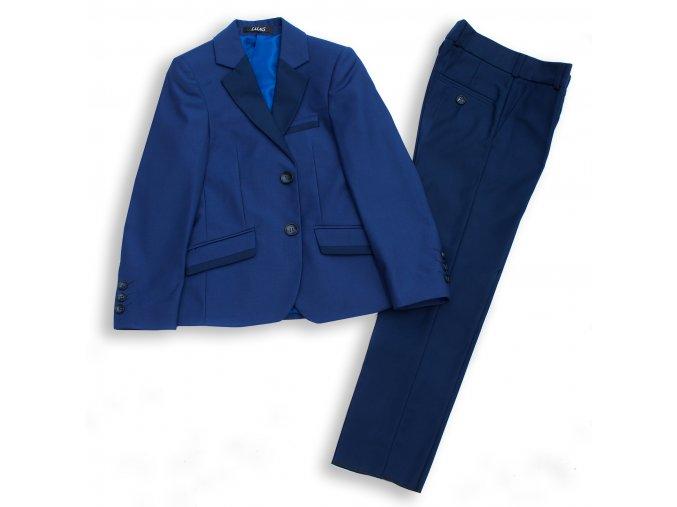 Chlapecký společenský oblek luxusní modrý